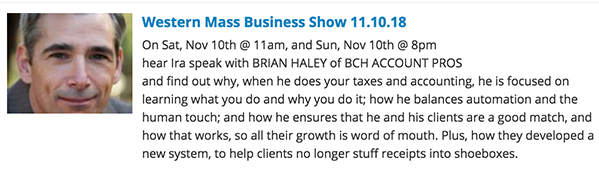 Western Mass Business Show with Ira Bryck